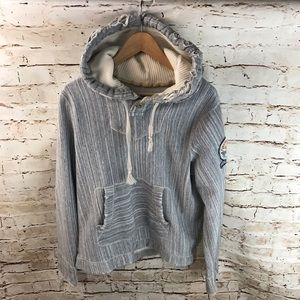 Hollister Boho Distressed Chill Pull Over Hoodie